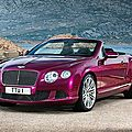 Les détails de la Bentley <b>Continental</b> GT Speed décapotable 2013 (CPA)