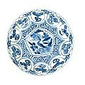 A blue and white kraak <b>Saucer</b> <b>Dish</b>, Wanli, 1573-1619