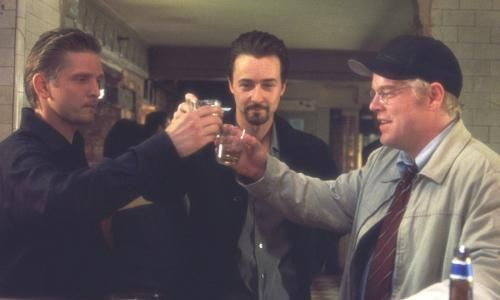 Barry Pepper, Edward Norton et Philip Seymour Hoffman