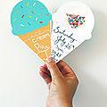 Des <b>invitations</b> pour une ice cream party (à imprimer - gratuit)