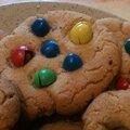 Cookies M&M'<b>s</b> - Beurre de cacahuètes