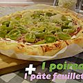 Recette du dimanche soir : 1 pâte feuilletée + 1 <b>poireau</b> = …