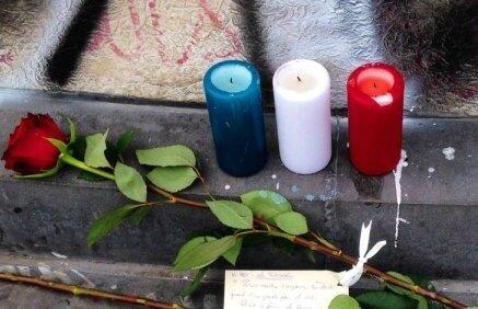 attentats bougies bleu blanc rouge