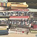 Sommaire de mes <b>chroniques</b> littéraires
