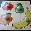 <b>Puzzle</b> encastrement 4 fruits