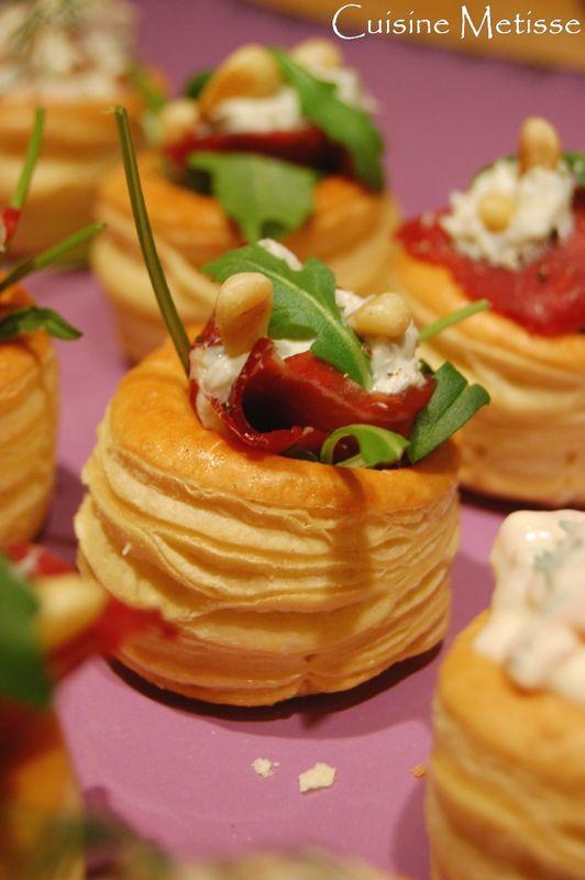 Bouchees Feuilletees Au Bresaola Et Chevre Frais Cuisine Metisse