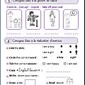 Anglais - <b>vocabulaire</b> - consignes de classe