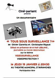 Videosurveillance Avranches ciné-débat 2012