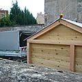 Sybert et chalet de compostage collectif, <b>place</b> de la <b>Libert</b>