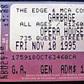 10/11/1995 Opera House, Toronto, <b>Canada</b>