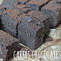 Carrés chocolatés ... à la patate douce! (<b>sans</b> <b>gluten</b>)