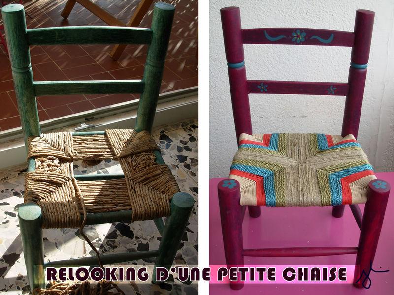 Chaises chez elle l 39 atelier de jojo for Recouvrir une chaise en paille