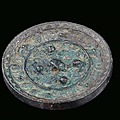 A silver-plated bronze mirror, <b>China</b>, Han Dynasty, 2nd century