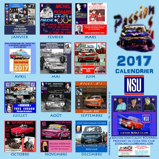 F 1 - Page 28 - 2017-CALENDRIER NSU (22 x 22 cm) 4ème de Couv