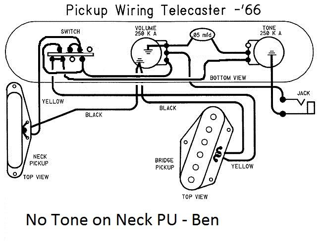 no tone on neck telecaster guitar forum