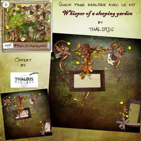 "Free scrapbook kit ""Whisper of a sleeping garden"" from Thaliris"