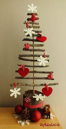 sapin récup bois, faire un sapin récup en bois, faire un sapin nature, diy christmas tree