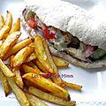 Chawarma de poulet à la libanaise, sauce tarator