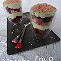 Tiramisu au Matcha et Fruits Rouges