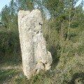 Le menhir de la Peyra Plantada de Congénies