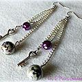 Des perles ... des clés qui se balancent ... une idée <b>cadeau</b> : des boucles d'oreille !