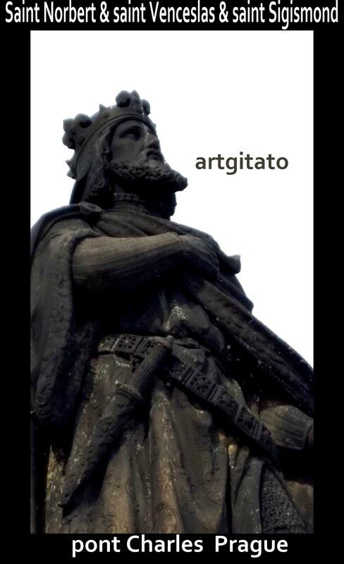 Saint Norbert & saint Venceslas & saint Sigismond Artgitato 2 Pont Charles Prague