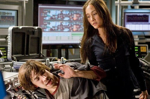 Maggie Q & Justin Long