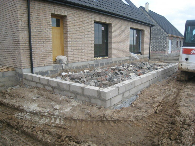 Schema terrasse beton for Terrasse suspendue beton photo