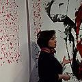 vernissage de l'exposition Remue! questionner le trait de la calligraphie arabe