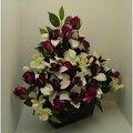 fleurs artificielles pas chères en pot ou en jardinière, de belle qualité