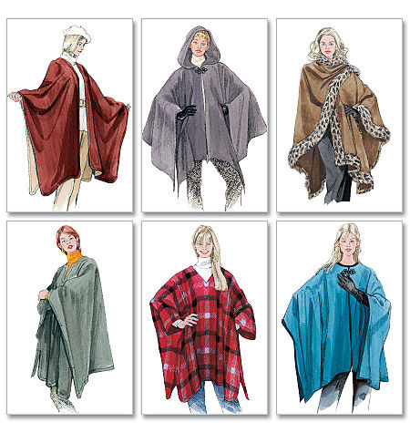 Favorit Poncho d'intérieur de O'Kryn | Butterick McCall's Vogue Addicts KI38