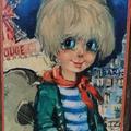 Déco Vintage ... Gravure LE GAMIN à la GUITARE au Moulin Rouge