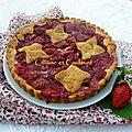 <b>Tarte</b> finlandaise aux fraises cuites ( Mansikkatorttu )