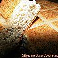 Gâteau aux <b>blancs</b> <b>d</b>'<b>oeuf</b> et noisettes