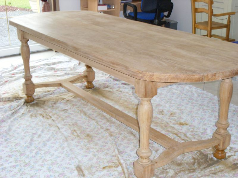 Comment relooker une table en chene atelier retouche paris - Ceruser une table en chene ...
