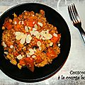 couscous à la <b>courge</b> butternut