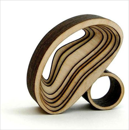 An Arch ring by Anthony Roussel in birch wood Photo Rob Popper