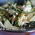 Salade de <b>courgettes</b> à la feta