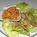 Sauté de porc à la japonaise et riz à la <b>tomate</b>