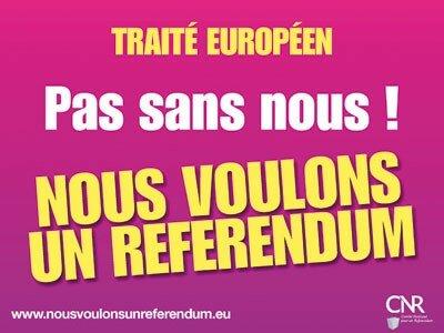 nous voulons un référendum