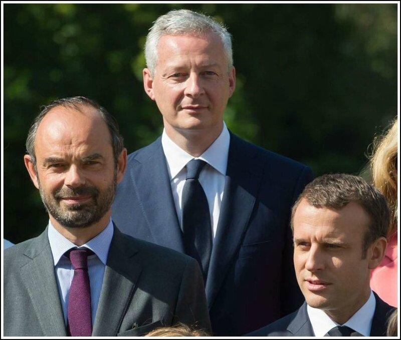 Macron Philippe Le Maire