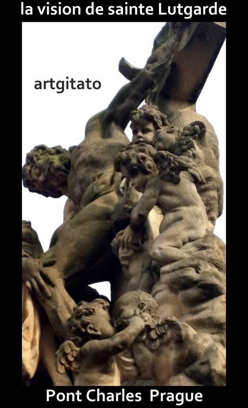 la vision de sainte Lutgarde Artgitato Pont Charles Prague