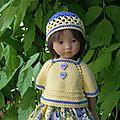 Alexie en jaune et bleu