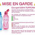 Mise en garde sur Eco-<b>Sport</b> de TUPPERWARE !