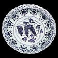 <b>Blue</b>-and-White dish, early 15th century, Ming dynasty (1368 – 1644)