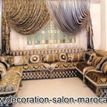 Des rideaux de haute couture pour salon marocain