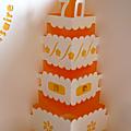 Kirigami pièce montée d'anniversaire