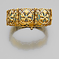 An enamel and gold <b>bracelet</b> by Alexis Falize, circa 1880