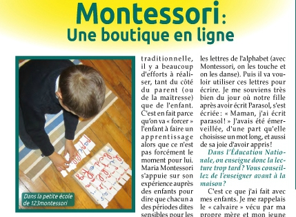 article montessori