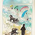 Sur la <b>plage</b>-Dessin et HaïKu de midi n°125